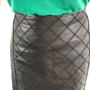 100% leather White House Black Market pencil skirt